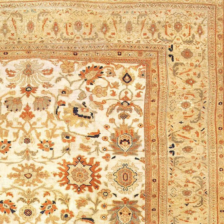 Antique Ziegler Sultanabad Rug From The Estate Of Sigmund