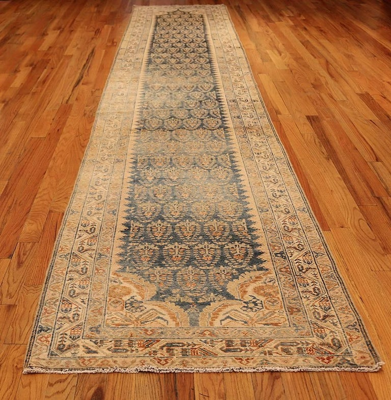 Decorative Antique Persian Malayer Runner For Sale 3