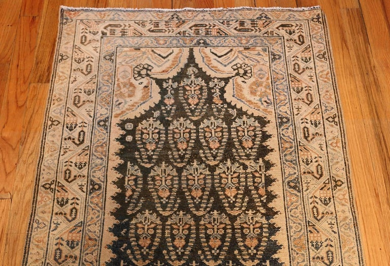 Hand-Knotted Decorative Antique Persian Malayer Runner For Sale