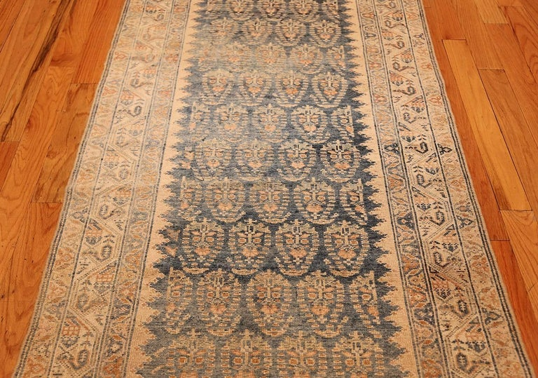 Wool Decorative Antique Persian Malayer Runner For Sale