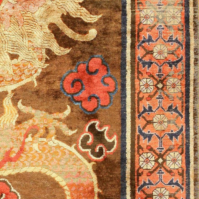 Antique Silk Dragon Chinese Rug At 1stdibs