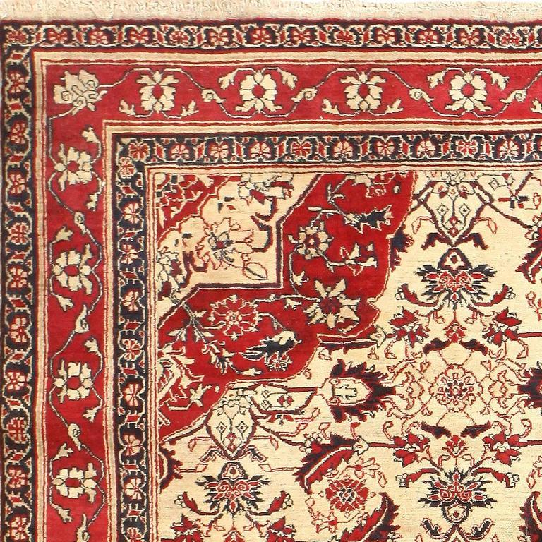Fine Antique Indian Agra Rug For Sale At 1stdibs