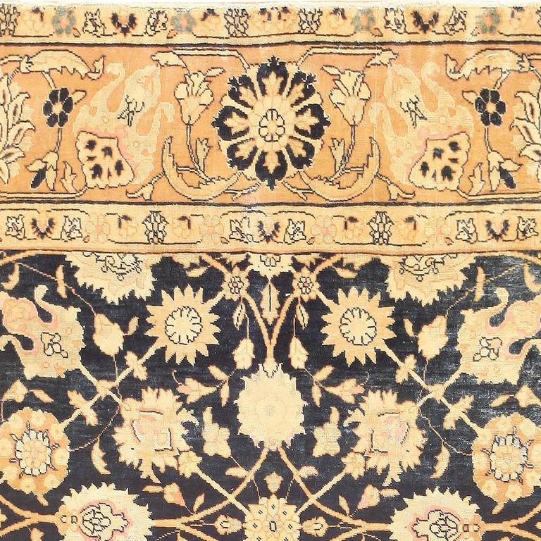 Royal Blue Background Indian Rug For Sale At 1stdibs