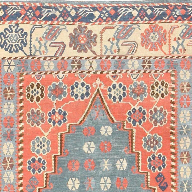 20th Century Antique Turkish Kilim Rug For Sale