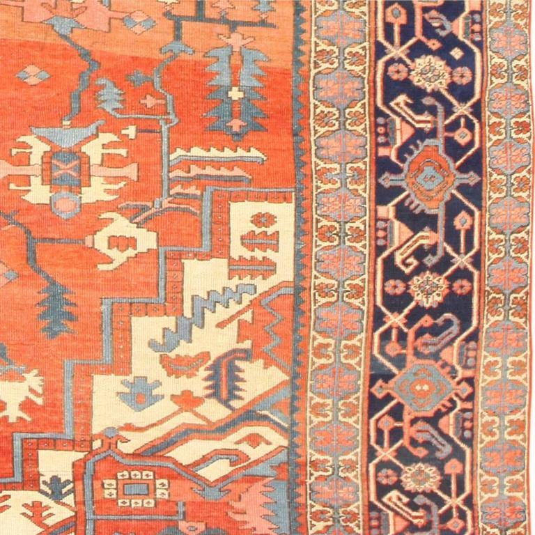 Antique Heriz Serapi Rug For Sale At 1stdibs