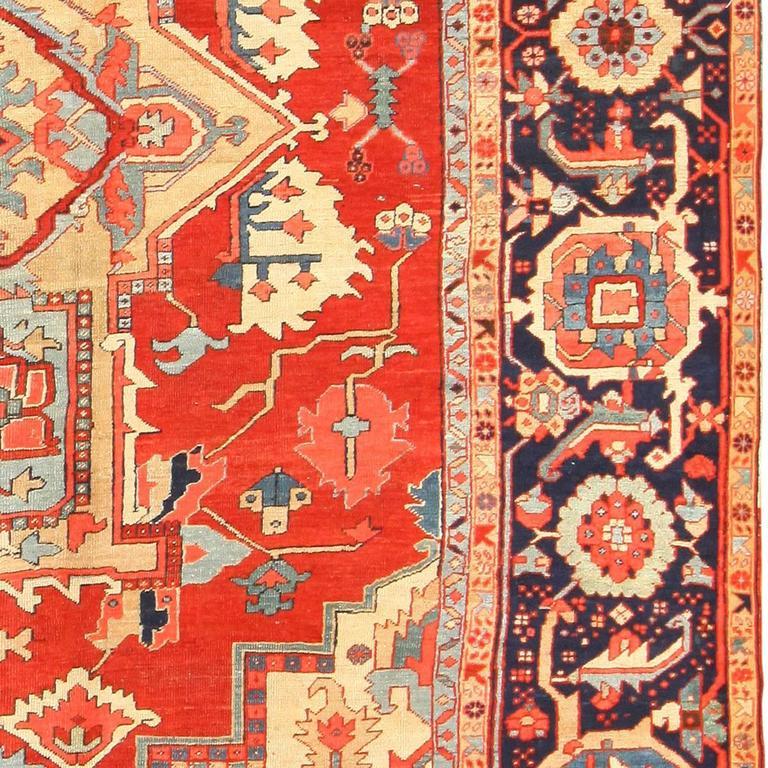 Antique Persian Heriz Rug Bb2402: Antique Heriz Serapi Rug For Sale At 1stdibs