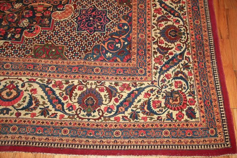 Beautiful Antique Persian Kashan Dabir