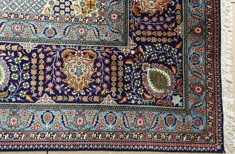 Wool Fine Vintage Tabriz Persian Rug For Sale