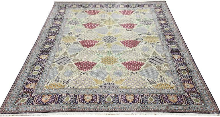 Fine Vintage Tabriz Persian Rug For Sale 2