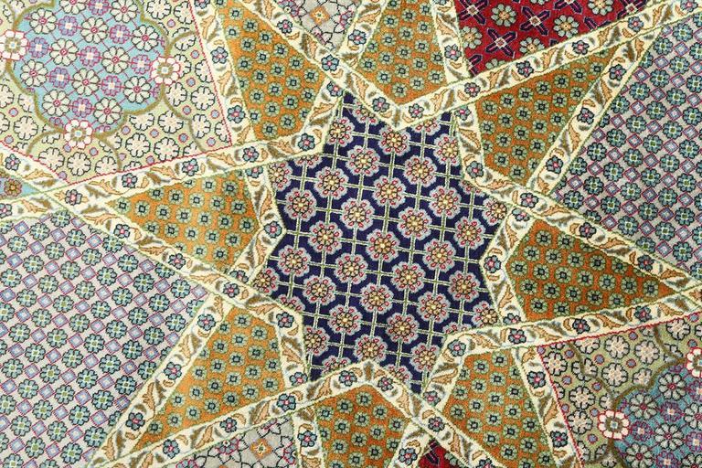 Fine Vintage Tabriz Persian Rug For Sale 1