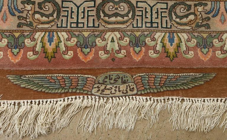 Pictorial Vintage Tabriz Persian Rug For Sale 1