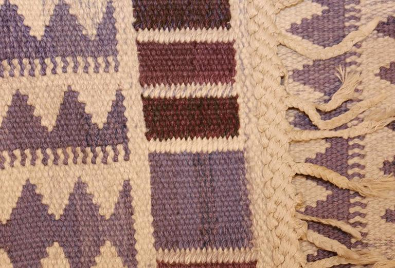 Hand-Knotted Vintage Scandinavian Swedish Kilim by Marta Maas For Sale