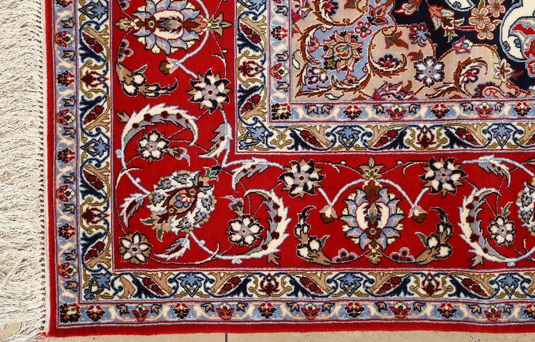 Ivory Vintage Isfahan Persian Rug 6