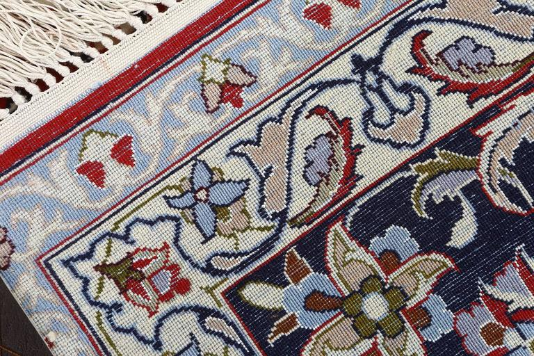 Hand-Knotted Vintage Isfahan Persian Rug For Sale