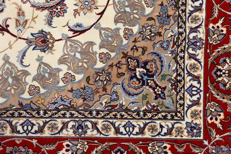 20th Century Vintage Isfahan Persian Rug For Sale