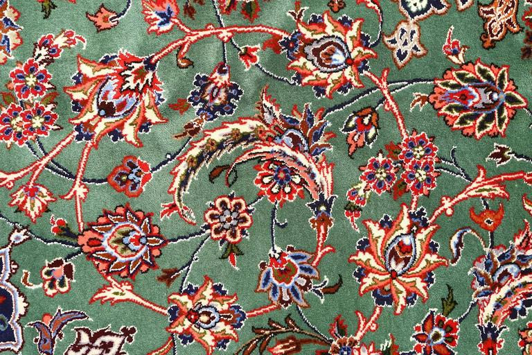 Wool Vintage Isfahan Persian Rug For Sale