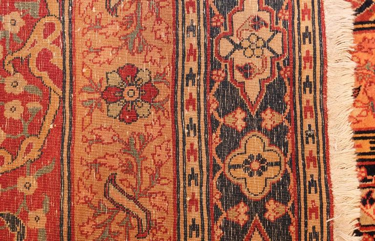 Wool Oversized Antique Tabriz Persian Rug For Sale