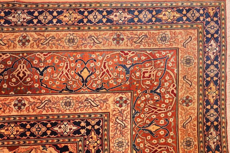 Oversized Antique Tabriz Persian Rug For Sale 1