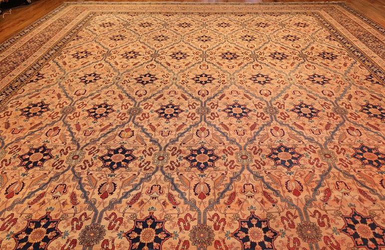 Oversized Antique Tabriz Persian Rug For Sale 2
