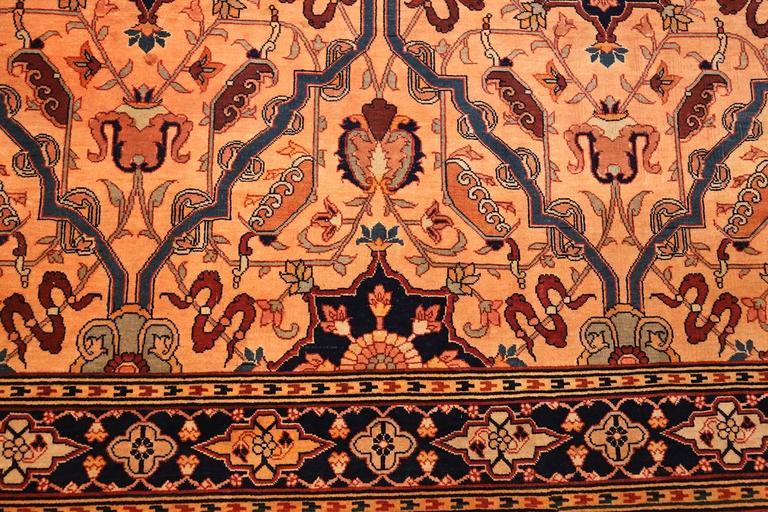 Oversized Antique Tabriz Persian Rug For Sale 3