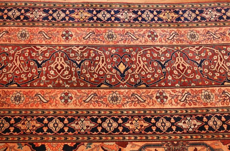 Oversized Antique Tabriz Persian Rug For Sale 4