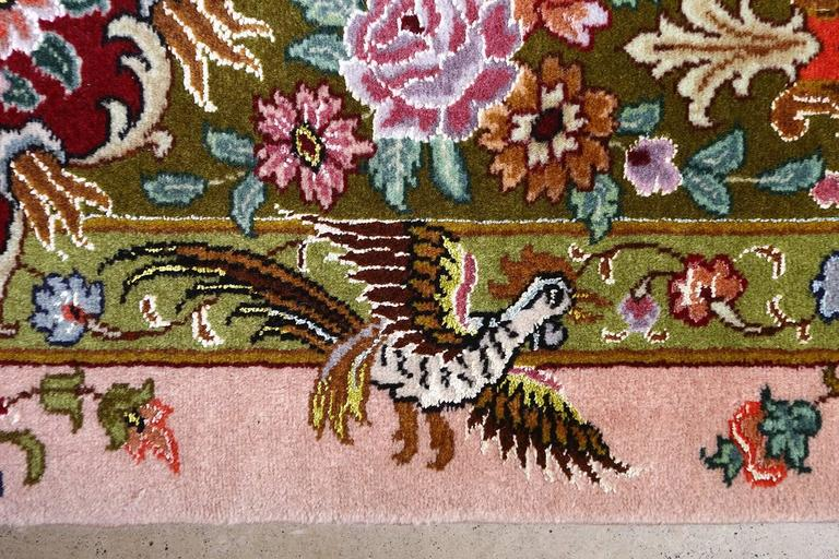 Oversized Hunting Scene Vintage Tabriz Persian Rug 4