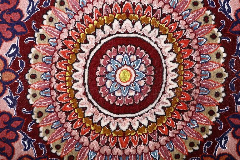 Wool Oversized Hunting Scene Vintage Tabriz Persian Rug For Sale
