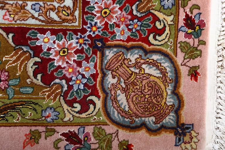 Oversized Hunting Scene Vintage Tabriz Persian Rug For Sale 1