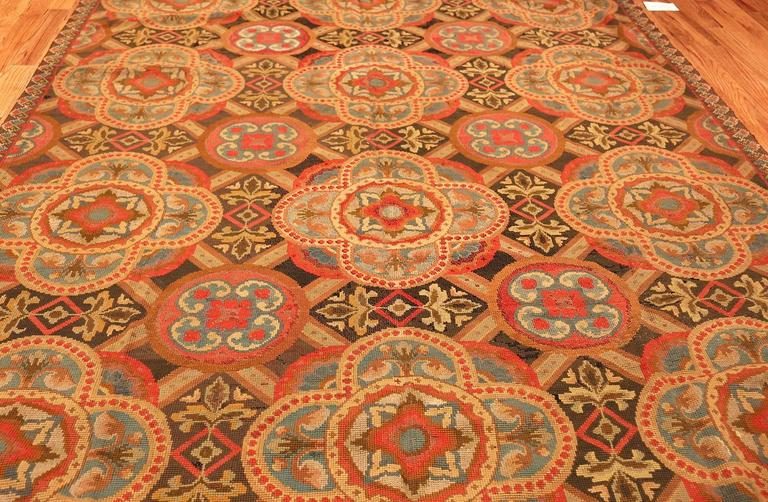 Antique Needlepoint English Rug For Sale At 1stdibs