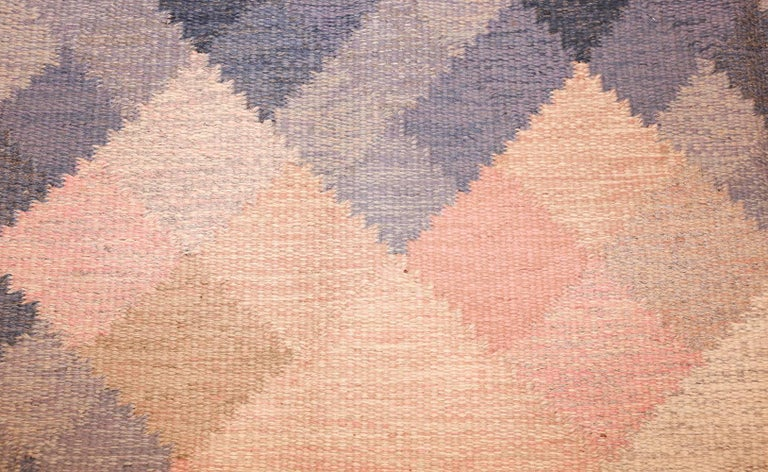 Vintage Swedish Kilim by Britta Swefors In Excellent Condition For Sale In New York, NY