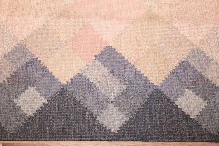 20th Century Vintage Swedish Kilim by Britta Swefors For Sale