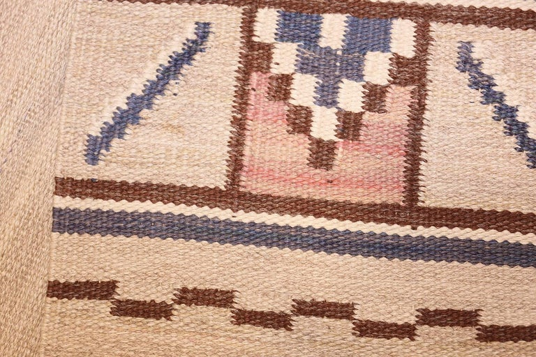 Hand-Woven Vintage Swedish Rug by Ellen Stahlbrand. Size: 3 ft 6 in x 5 ft 9 in  For Sale