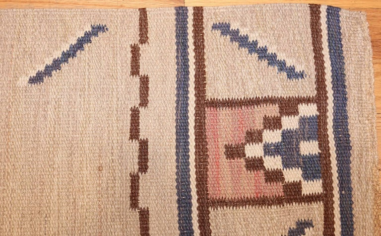 20th Century Vintage Swedish Rug by Ellen Stahlbrand. Size: 3 ft 6 in x 5 ft 9 in  For Sale