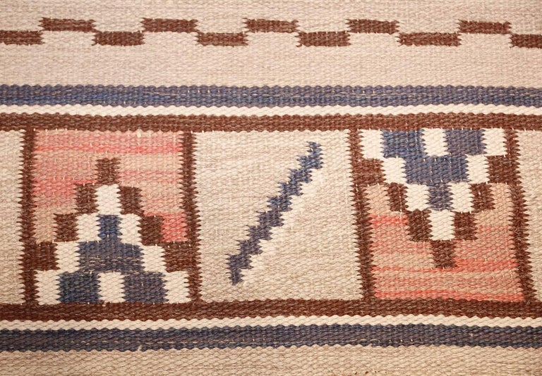Wool Vintage Swedish Rug by Ellen Stahlbrand. Size: 3 ft 6 in x 5 ft 9 in  For Sale