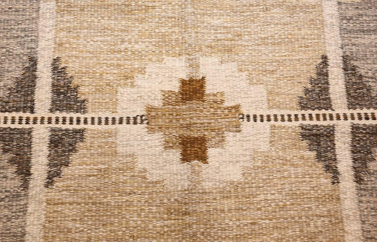20th Century Vintage Swedish Kilim by Ingegerd Silow For Sale