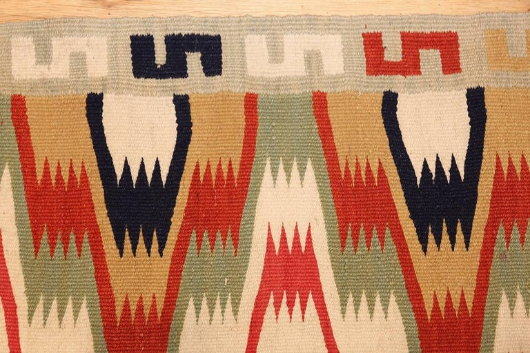 Antique Scandinavian Swedish Kilim Runner. Size: 1 ft 9 in x 10 ft 9 in  In Excellent Condition For Sale In New York, NY