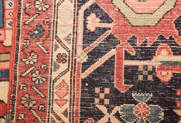 Large Oriental Antique Persian Heriz Serapi Rug For Sale 2