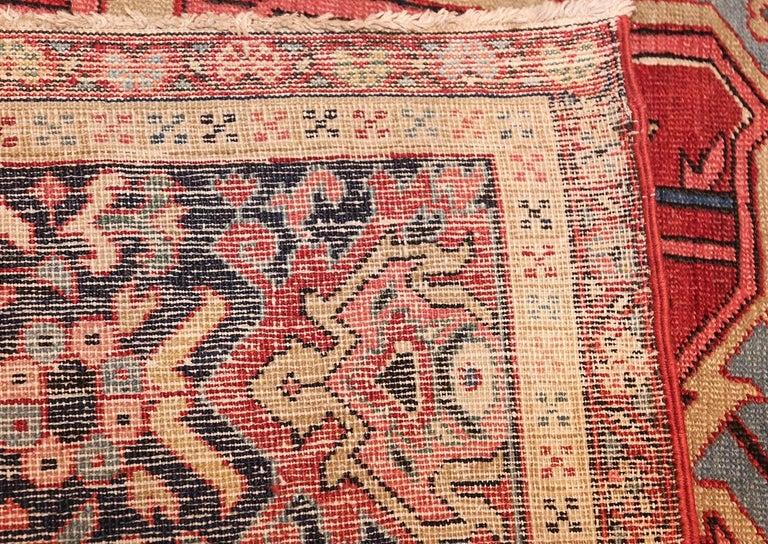 Heriz Serapi Large Oriental Antique Persian Serapi Heriz Rug For Sale
