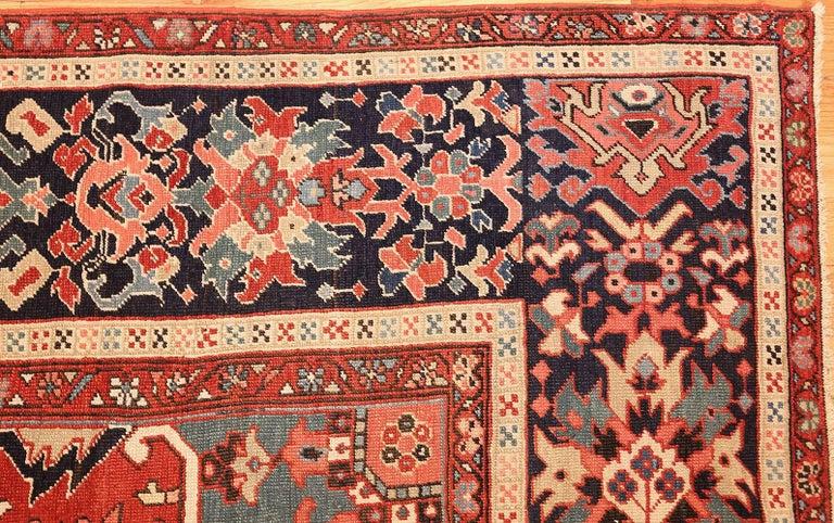 Wool Large Oriental Antique Persian Serapi Heriz Rug For Sale