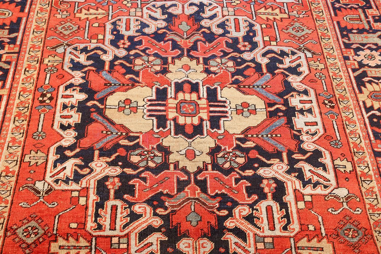 Antique Red Background Heriz Persian Rug