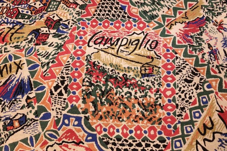 Vintage Italian Missoni Carpet Ski Resorts At 1stdibs