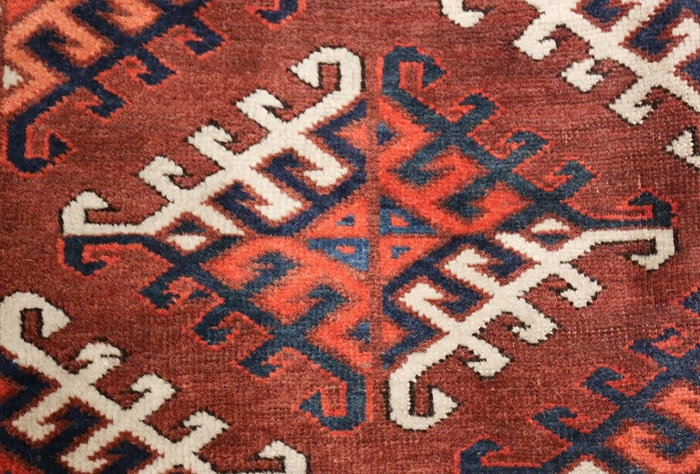 Antique Yomud Oriental Rug In Good Condition For Sale In New York, NY