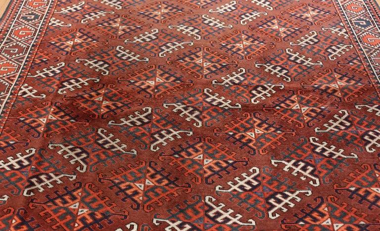 Wool Antique Yomud Oriental Rug For Sale