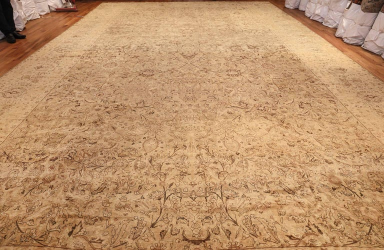 Kirman Oversized Antique Kerman Persian Rug For