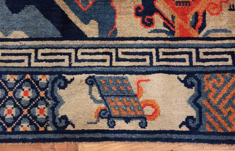 Blue Antique Chinese Carpet For Sale At 1stdibs