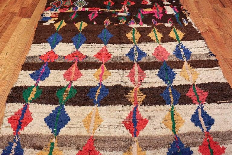 Midcentury Vintage Folk Art Moroccan Rug At 1stdibs