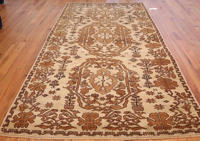 Antique Afghan rug, Country of Origin: Afghanistan, circa Date: Turn of the 20th century – Here is an incredible, beautifully composed antique Oriental rug – an antique Afghan rug that was originally hand woven by the master rug makers of