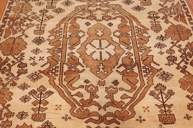Hand-Knotted Antique Afghan Rug For Sale