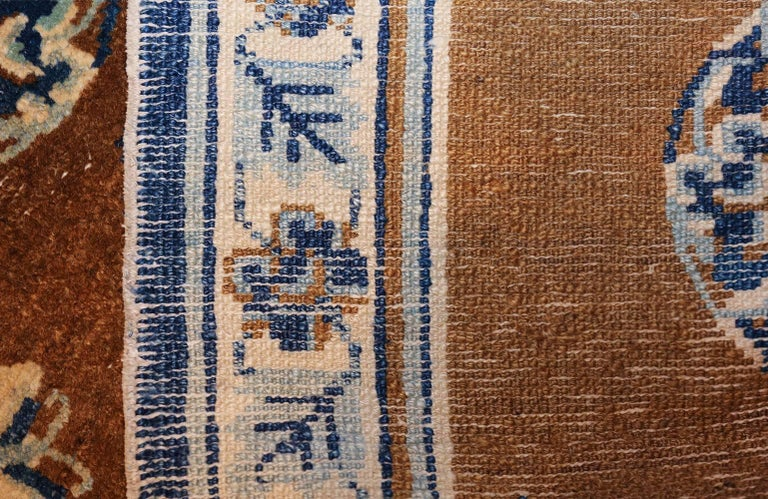 Small Size Antique Blue and Brown Chinese Rug 3