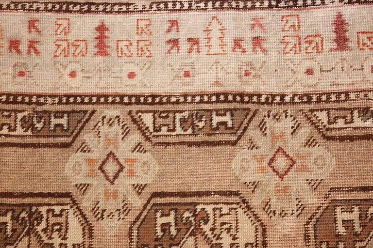 Antique Long and Narrow Oriental Khotan Rug For Sale 1